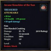 Arcane Knuckles of the Sun