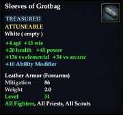 Sleeves of Grotbag