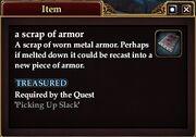 A scrap of armor