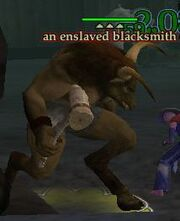 An enslaved blacksmith