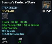 Bouncer's Earring of Force