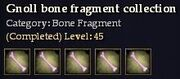 CQ gnoll bone fragment collection Journal