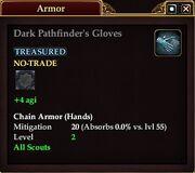 Dark Pathfinder's Gloves