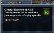 Greater Essence of Acid