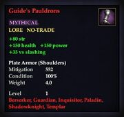 Guide's Pauldrons