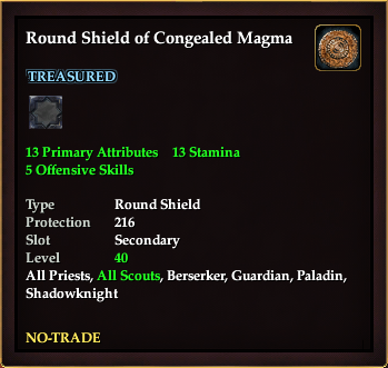 Round Shield of Congealed Magma | EverQuest 2 Wiki | FANDOM