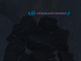 A blackened construct