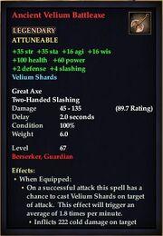 Ancient Velium Battleaxe (Version 1)