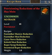 Provisioning Reductions of the Hua Mein