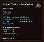 Acolyte's Spaulders of the Combine