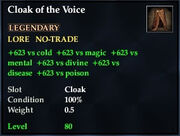 Cloak of the Voice