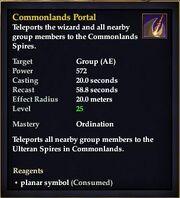 Commonlands Portal