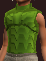 Green Galvanized Paper Plate Coat (Equipped)