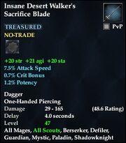 Insane Desert Walker's Sacrifice Blade