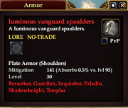Luminous vanguard spaulders
