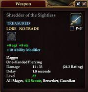 Shredder of the Sightless