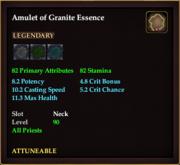 Amulet of Granite Essence