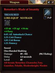 Berserker's Blade of Insanity (85)