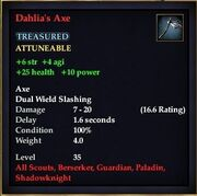 Dahlia's Axe