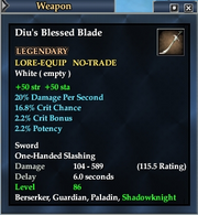 Diu's Blessed Blade
