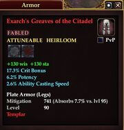 Exarch's Greaves of the Citadel