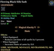 Flowing Black Silk Sash