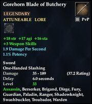 Gorehorn Blade of Butchery