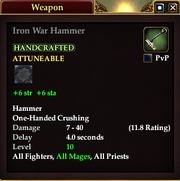 Iron War Hammer