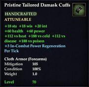 Pristine Tailored Damask Cuffs