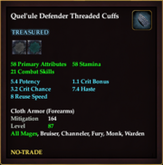 Quel'ule Defender Threaded Cuffs