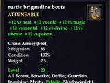 Rustic brigandine boots