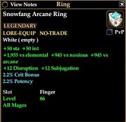 Snowfang Arcane Ring