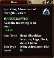 Sparkling Adornment of Strength (Lesser)