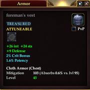 Foreman's vest