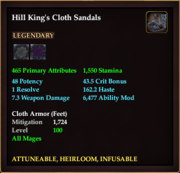 Hill King's Cloth Sandals
