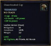 Ooze-treated Cap