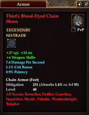 Thief's Blood-Dyed Chain Shoes