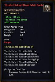 Thistle Etched Blood Mail Boots