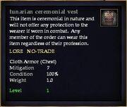 Tunarian ceremonial vest