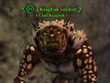 A Kragbak soldier