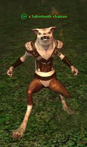 A Sabertooth shaman