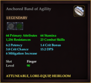 Anchored Band of Agility
