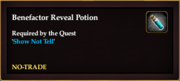 Benefactor Reveal Potion