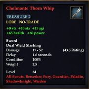Chelmonte Thorn Whip