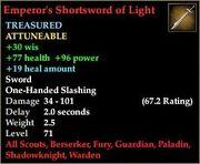 Emperor's Shortsword of Light
