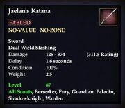 Jaelan's Katana (TBoCH Good)