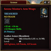 Serene Mentor's Arm Wraps
