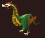 A Green Tamed Cockatrice (Visible)