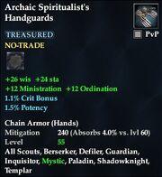 Archaic Spiritualist's Handguards