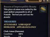 Bracers of Imperceptible Beauty